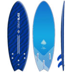 STORM BLADE 5ft6 SWALLOW TAIL SURFBOARD - BLIZZARD BLUE