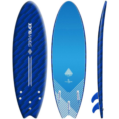 STORM BLADE 6ft SWALLOW TAIL SURFBOARD - BLIZZARD BLUE