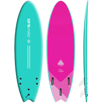 """STORM BLADE 6'6""""SWALLOW TAIL - TURQUOISE"""