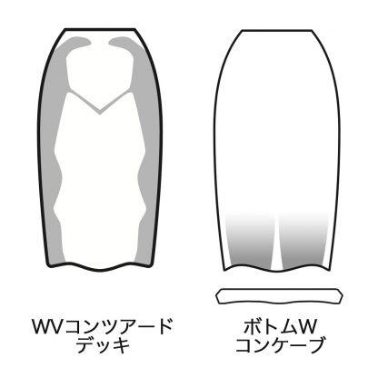 WVコンツアードデッキ / ボトムWコンケーブ